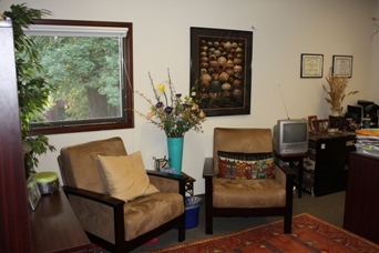 And here is an example of one of our therapy rooms.  These rooms are where our therapists meet with students for short-term individual or couples therapy