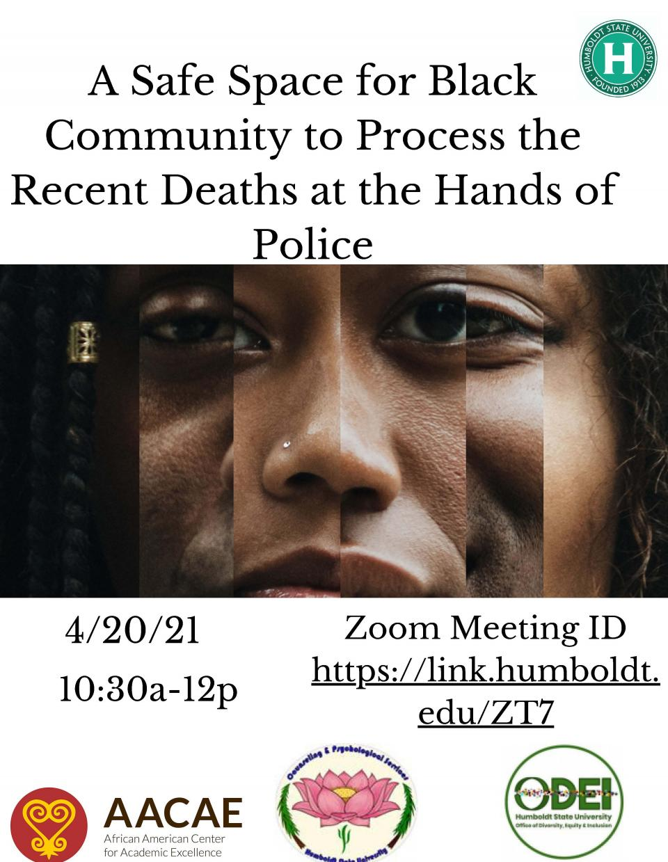 Flyer for Black Community Event on 4/20